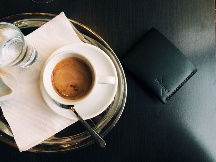 Craftsman story, leather handmade wallet and lazy morning coffetime.
