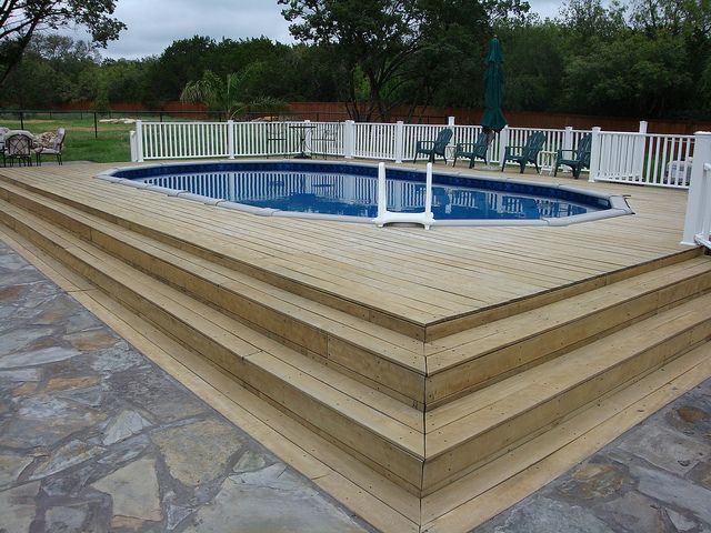 51 best pool party images on pinterest for Above ground pool vinyl decks