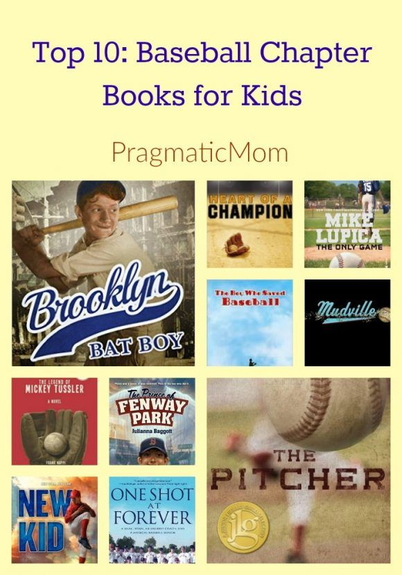 Top 10: Baseball Chapter & YA Books for Kids & GIVEAWAY :: PragmaticMom #reading #middleschool #chapterbook