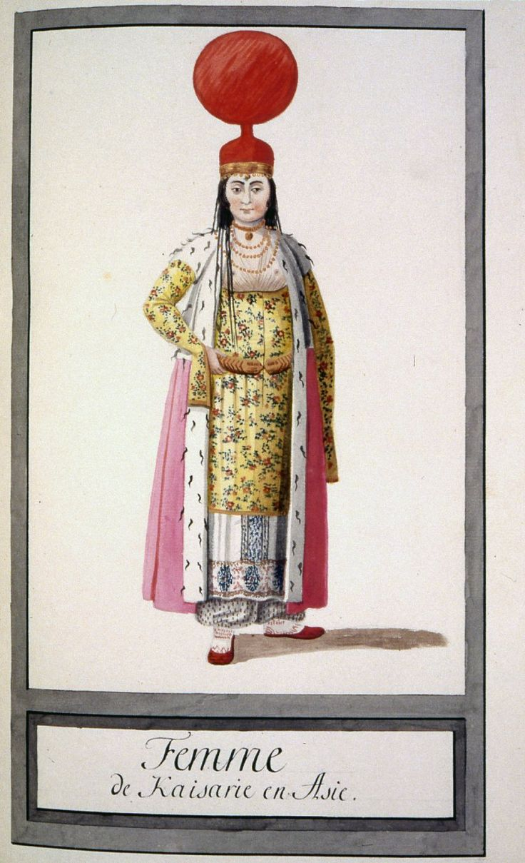 A woman of Kayserie. - Illustrations of Ottomans circa 1790 from Costumes Turcs  Source: British Museum