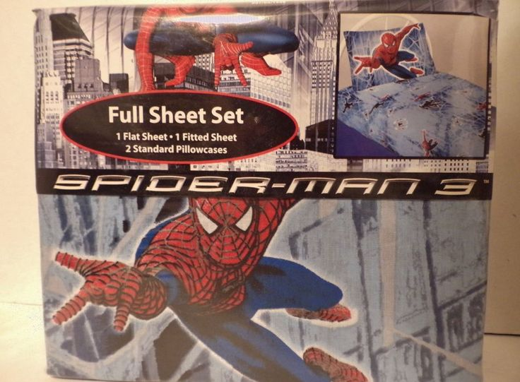 Spider-Man 3 Full Size Sheet Set New Spiderman Original Movie Merchandise #MarvelOfficialMovieMerchandise
