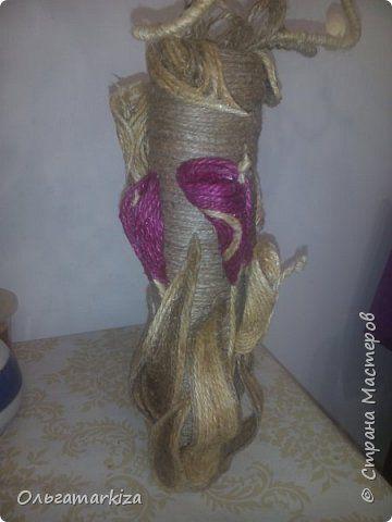 Поделка изделие Моделирование конструирование Миниатюрная ваза Проволока Шпагат фото 3