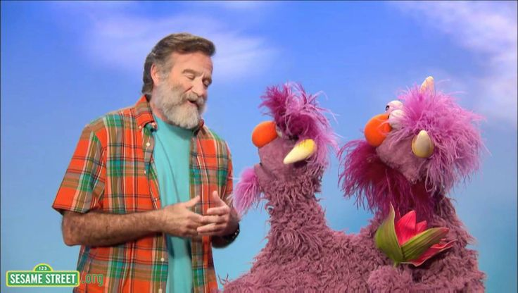 """Robin Williams and Sesame Street friends explaining conflict. I love how silly and funny they make """"conflict"""" seem :-) I suggest we all learn from this."""
