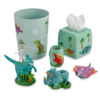 Dinosaur Friends Bath Ensemble - BedBathandBeyond.com - Cute if the boys had their own bathroom