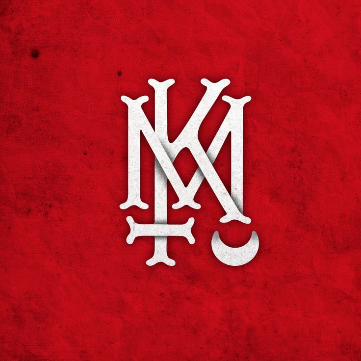 'KM' logo design for Specktors - Kadavermarch album  www.totcph.com
