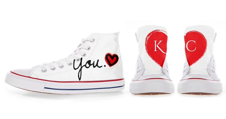 TWO+HALVES+Customized+Converse+All+Stars+by+36custom+on+Etsy,+€85.00
