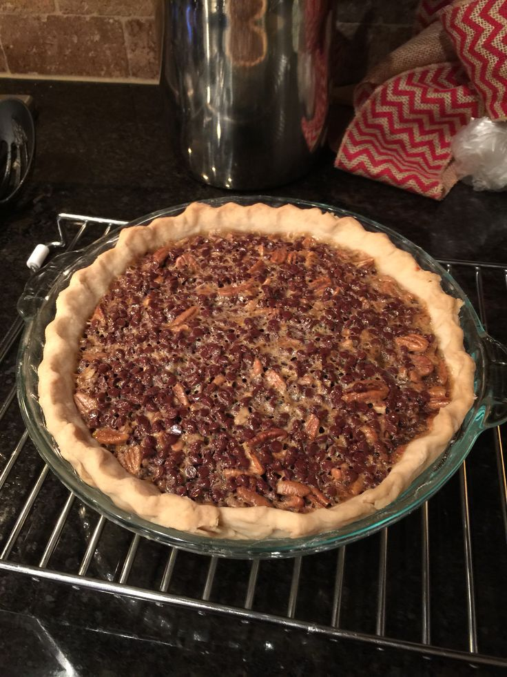 Paula Dean's Chocolate Bourbon Pecan Pie. Best. Pie. Ever ...