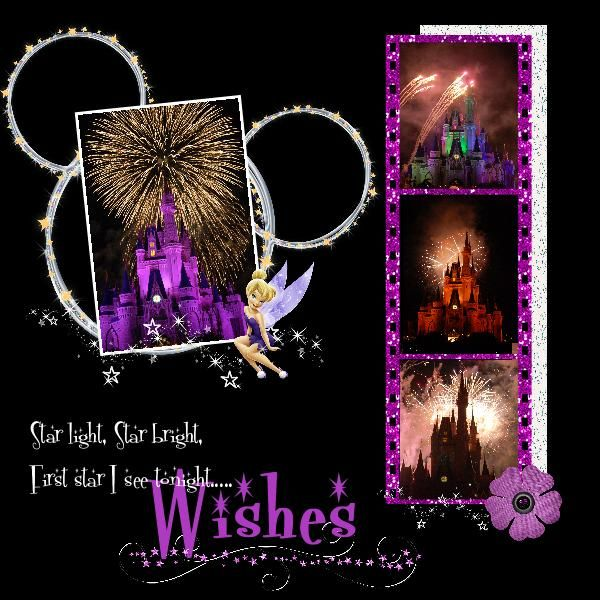 Disney Wishes Fireworks scrapbooking ideas!