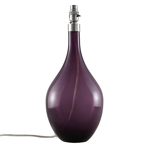 Buy John Lewis Hansel Glass Lamp Base, Purple Online at johnlewis.com