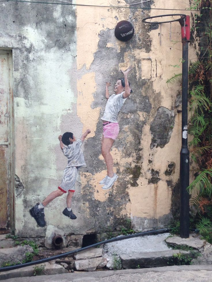 Street Art in Penang Malaysia by the artist Ernest Zacharevic