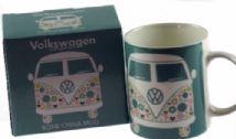 Duck Egg Blue VW Camper Van Design Mug Official - Volkswagen Branded Cup