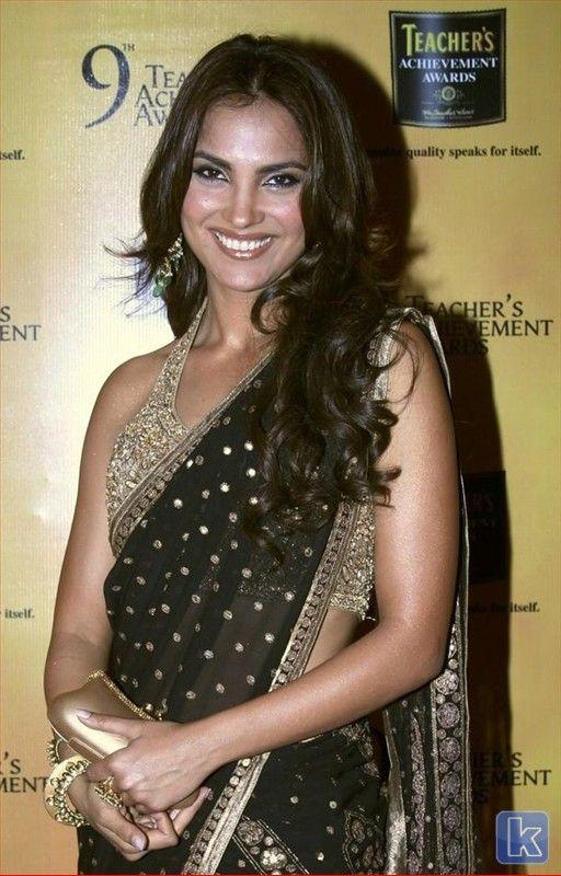 Lara Dutta in a black #Saree #Bollywood #Fashion | Celebrity Sarees ...