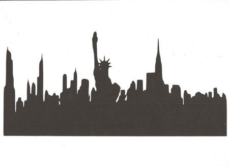 New York City Skyline With Statue Of Liberty Large By Hilemanhouse
