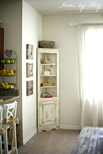 Want a corner hutch for my shabby chic room!!