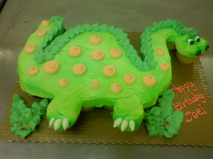 Dinosaur Cupcakes, getting ideas for boy birthday cakes