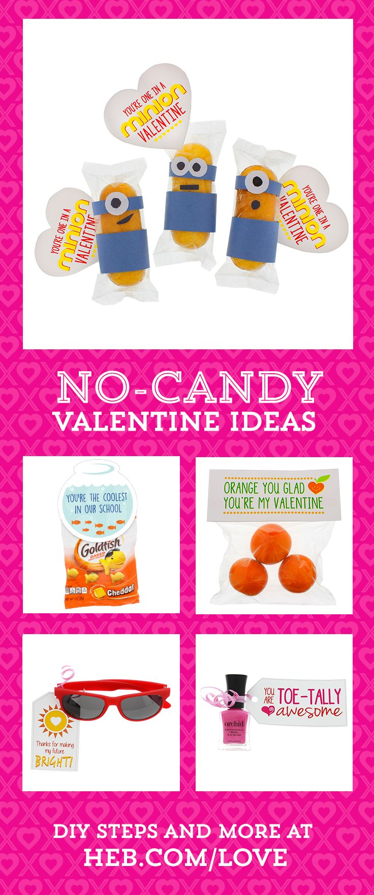 Looking for DIY Valentine gifts that don't involve tons of candy? Our No-Candy Valentines projects have ideas for a classroom exchange, teacher gifts and even Valentines for your crush. Plus, get printable tags! How easy is that?