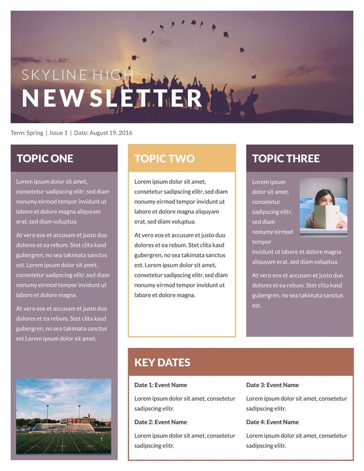 free newsletter templates  u0026 examples