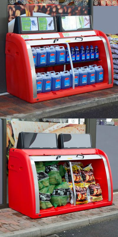 Orion™ Storage and Display Unit has optional promotional display points that offer flexibility in advertising. The unit can also be configured with or without a shelf. #GlasdonUK #StorageUnit #DisplayUnit #ForecourtBunker