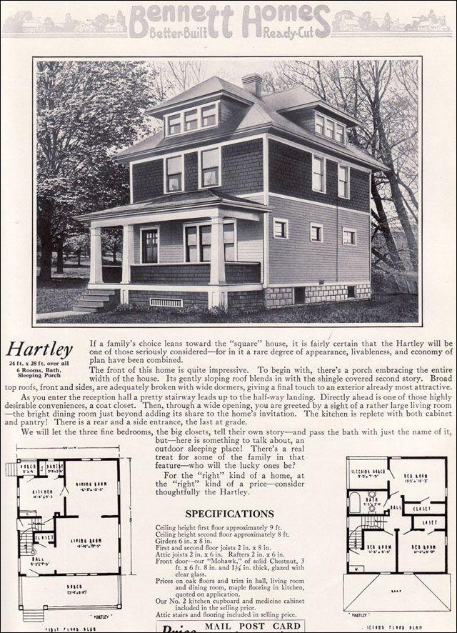 Les 30265 meilleures images du tableau 1918 foursquare for Kit homes duplex