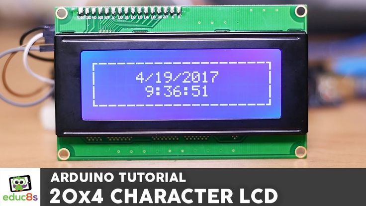 Arduino Tutorial: 20x4 I2C Character LCD display with Arduino Uno