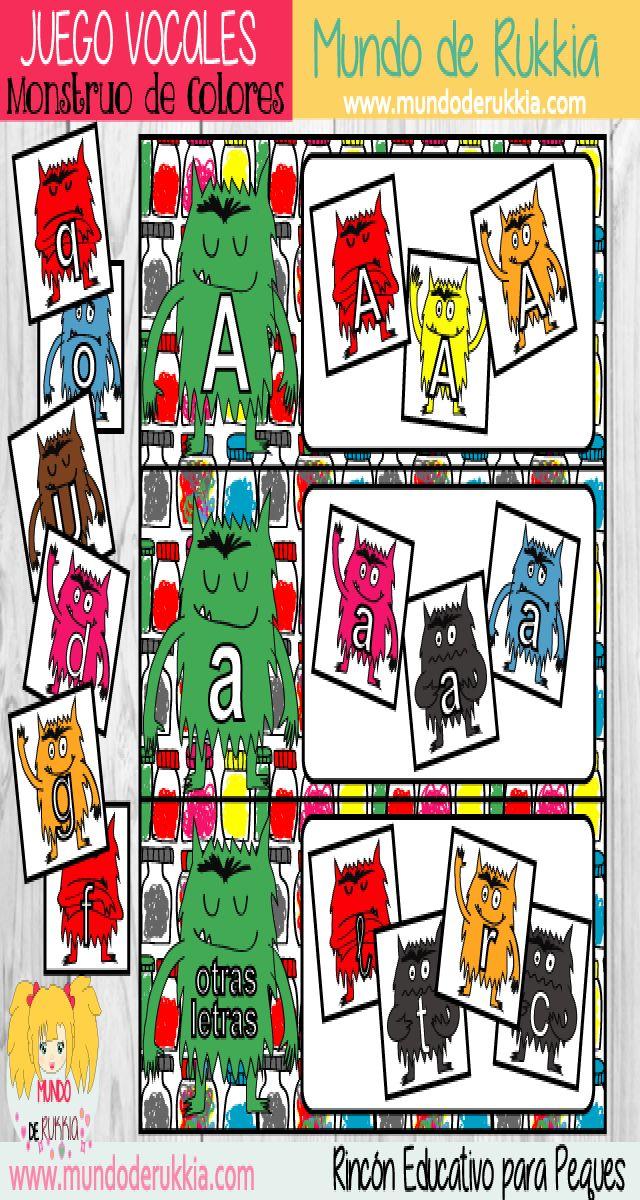 ectoescritura, juego de lectoescritura, monstruo de colores, actividades de cuento, the color monster, aprender vocales, monstruo de colores actividades, monstruo de colores juego, monstruo de colores manualidad, ficha letras, aprender letras, ficha lectoescritura, juego letras, the color monster game, the color monster printables, the color monster crafts, monstruo de colores imprimible