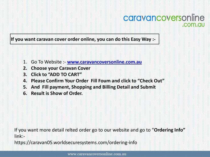 Caravan Covers Online order Services Detail Information :-
