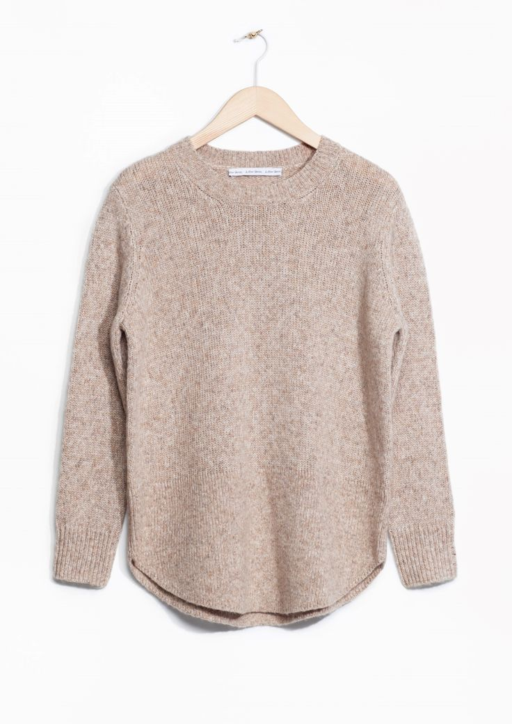 A slouchy jumper for living in | & Other Stories, Alpaca-Blend Light Beige sweater