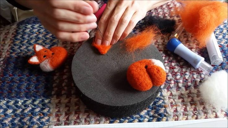 Needle Felting Animals - Felt Fox Tutorial for Beginners / Intermediate ...