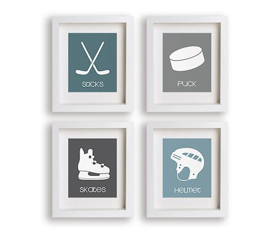 Hockey Nursery Decor Baby Boy Boy's Room Nursery by NikoAndLily