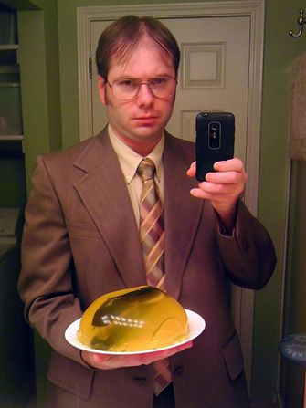 Dwight Shrute costume! Ranging from the 5 minute costume to some that will take a little more planning, these adult Halloween costumes are bound to get a few laughs at the party. Get inspired by the following Halloween costume ideas and don't settle for  a disappointing and unoriginal costume – why feel like a weeny on Halloweeny? - See more at: http://blog.nextdayflyers.com/22-easy-funny-halloween-costume-ideas-2014