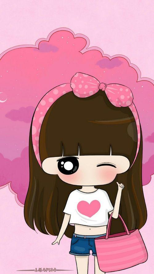 รูปภาพ cartoon, girl, and cute