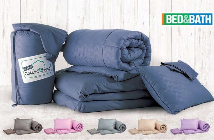 Bed In A Bag Premium set CANNON Cotton Fresh, embossed, Soft Comforter & pillows for Full Bed Set, 100% Cotton, Set includes 1 Cotton Fresh bag