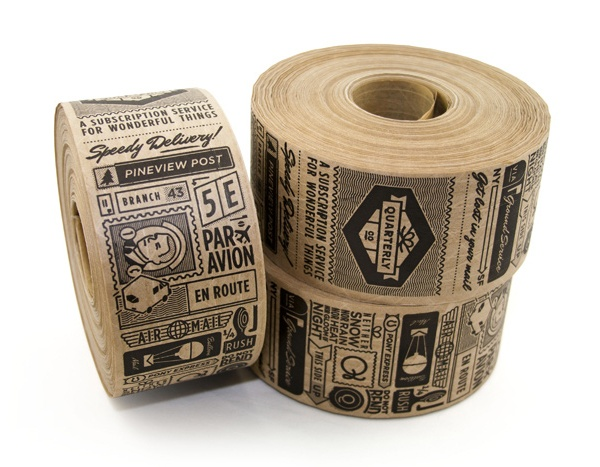 Quarterly Co. Packaging Tape designed by Oak