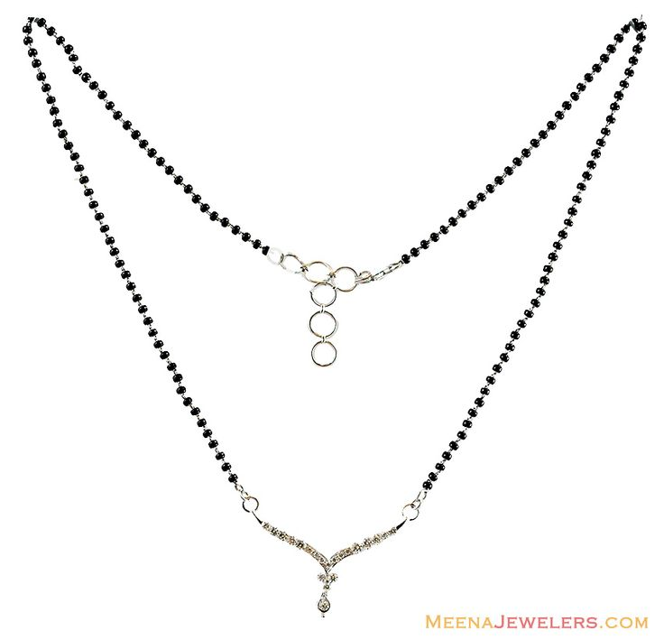Diamond Mangalsutra Designs India | White Gold Diamond Mangalsutra ( Diamond MangalSutras )