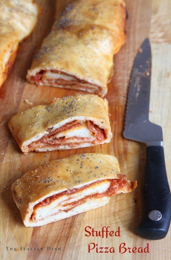 Stuffed Pizza Bread - The Italian Dish