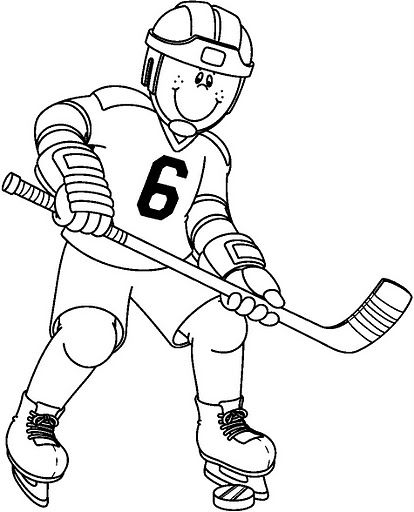 306 best coloring sports images on Pinterest Coloring books - new coloring page of a hockey player