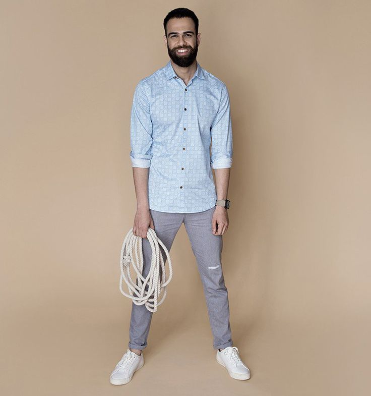 """""""Buy Blue Slate luxury shirts for men online at Andamen at the best price. Andamen is the leading online portal for premium branded shirts for men in India. Free shipping and 60 days free returns."""