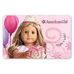 American Girl Saige Cake Topper