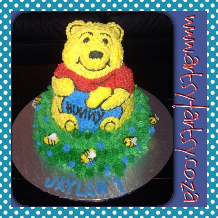 3D Winnie the Pooh Buttericing Cake #winniethepoohcake
