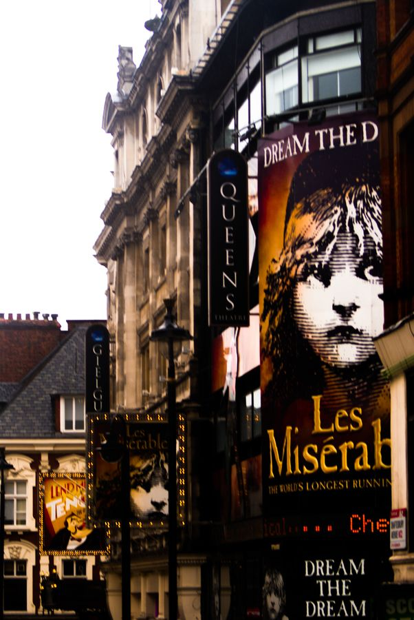 Theatre District in London, England. Been there and saw Les Mis on July 4 for an early bday present. Thank you again Emily D!