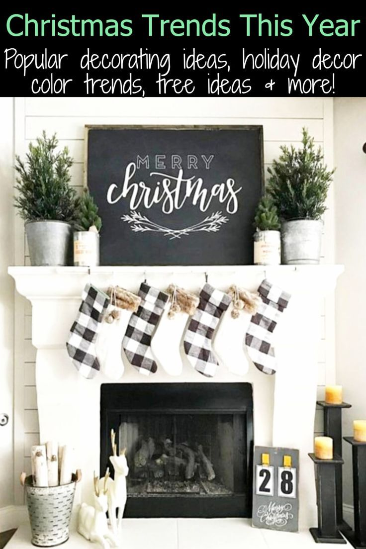 Christmas Trends 2020 Here S What S Hot This Holiday Season Christmas Decor Trends Trendy Christmas Decor Christmas Mantel Decorations