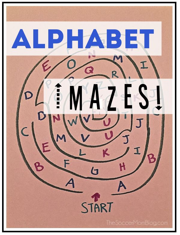 Make learning fun with alphabet mazes! Teach preschoolers and help kindergardeners practice their letters with this easy DIY game.