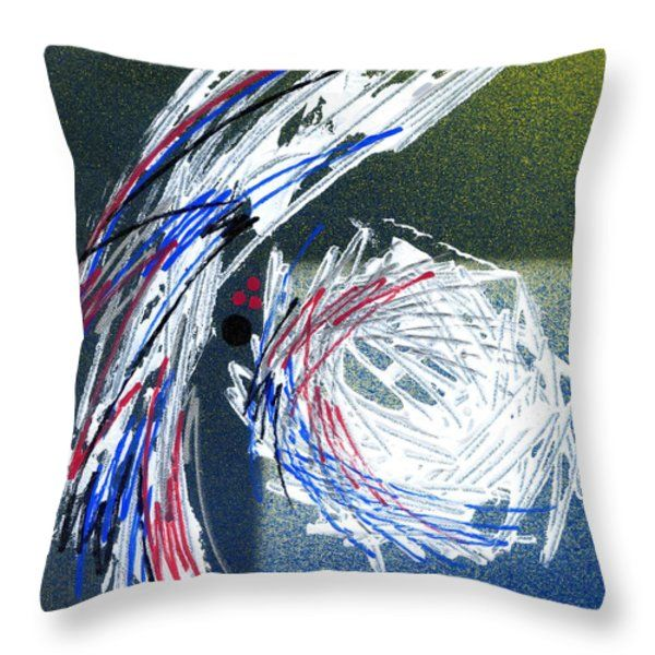 Throw Pillow featuring the painting Abstract Expression- II by Rupam Shah