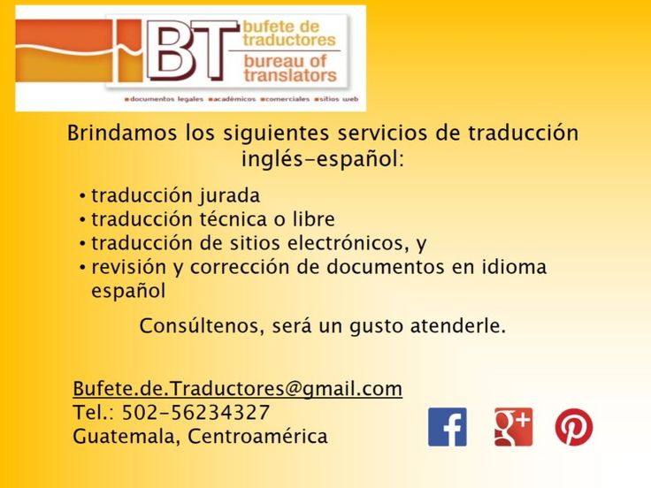 14 best Servicios que brinda el Bufete de Traductores images on ...