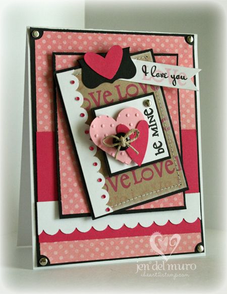 Love this beautiful handmade valentine card!