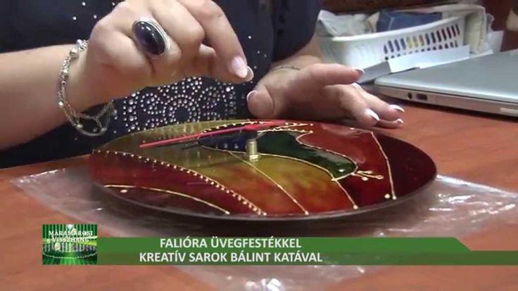 Üveglapra készített óra üvegfestékkel - Kreatív sarok Bálint Katával