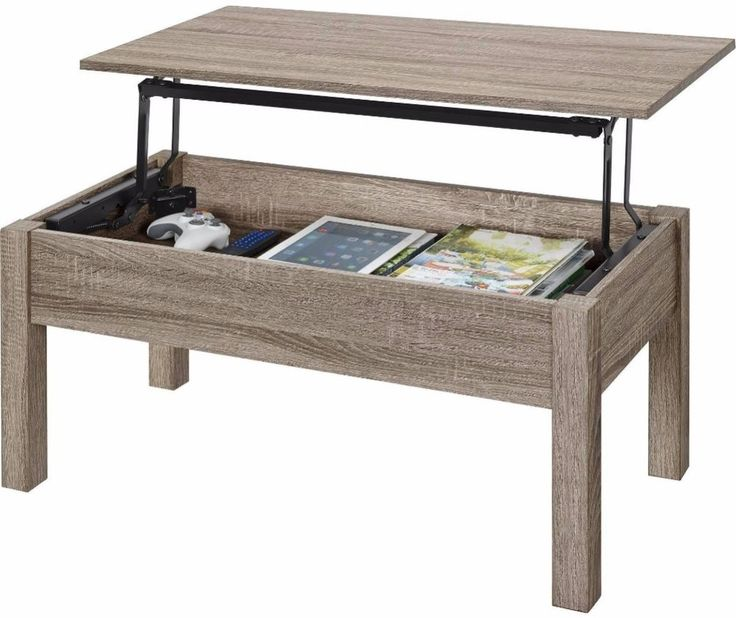 Coffee Table With Lift Top Tan Oak Living Room Furniture Hidden Storage #coffeetable #livingroom #furniture #home #table