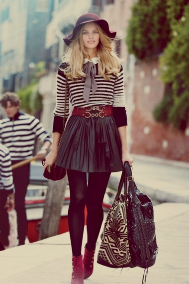 : Freepeopl Fashion, Schools Outfit, Leather Skirts, Street Style, Travel Fashion, Fall Outfit, Free People, Floppy Hats, Parisienne Chic