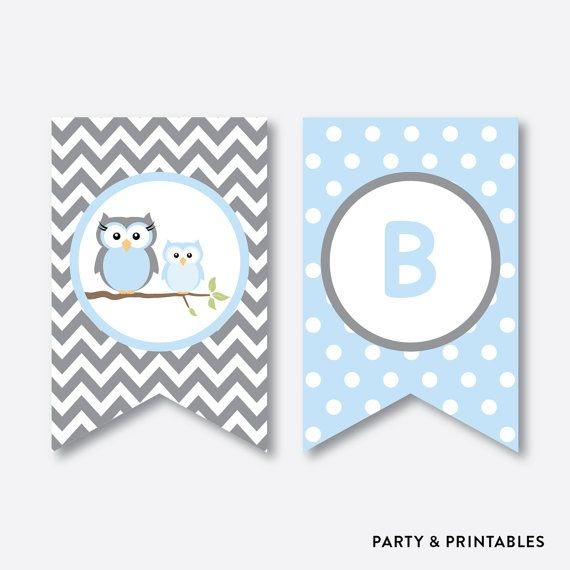 Instant Download, Owl Baby Shower Banner, Baby Sprinkle Banner, Welcome Baby,  Owl