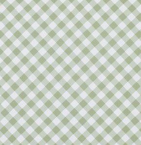 Tela de algodón verde guinga pwtw070Green de por agardenofroses